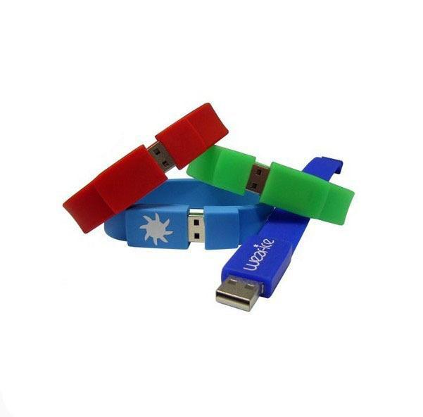 bracelet usb flash drive 4gb 8gb 16gb 32gb 64gb with customized logo print 2