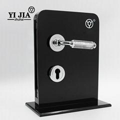 3 Inch crystal glass chrome door handles