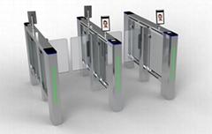 德亞人臉識別測溫人行通道閘供應