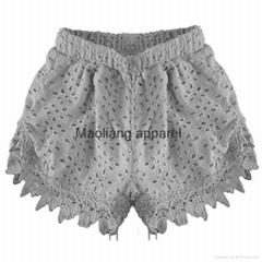 Eyelets lace shorts