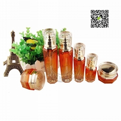 Cosmetics packing glass bottle jar tube bottle plastic packing products
