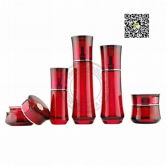 Xinya Cosmetics packing glass bottle jar tube cream bottle plastic packing