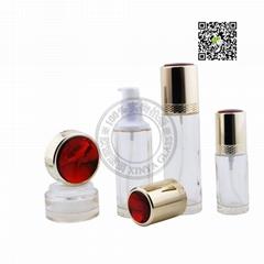 export qualiry cosmetics packing glass bottle PE tube 50ml 80ml 100ml 120ml