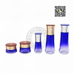 glass cosmetic packing set lotion eye liquid cream  oil bottle quality export