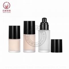 20ml 30ml 40ml liquid foundation pump glass bottles press sprayer cosmetic pack
