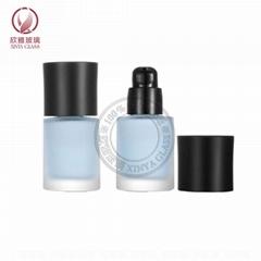 30ml round glass cosmetick bottle pump bottle lotion concealer sunscreen foundat