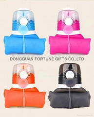 750ml Silicone Collapsible Water Bottle Silicone travel cup