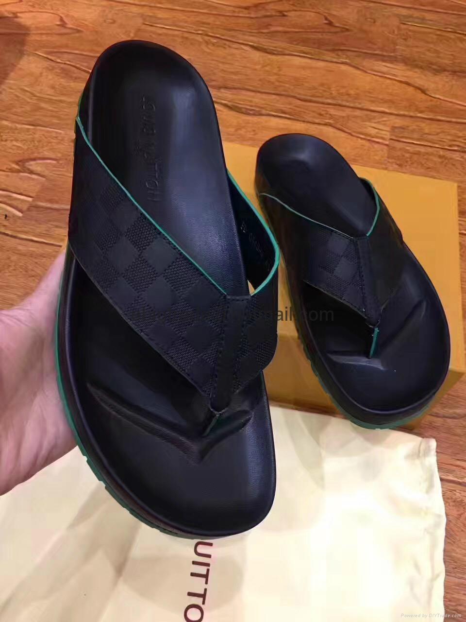 Cheap LOUIS VUITTON men's Sandals LV slippers LV sandals LV FLIP FLOPS ON SALE  6
