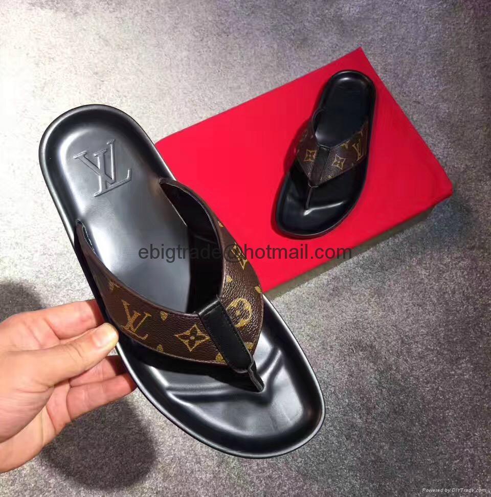 Cheap LOUIS VUITTON men's Sandals LV slippers LV sandals LV FLIP FLOPS ON SALE  3