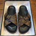 Cheap LOUIS VUITTON men's Sandals LV slippers LV sandals LV FLIP FLOPS ON SALE  9