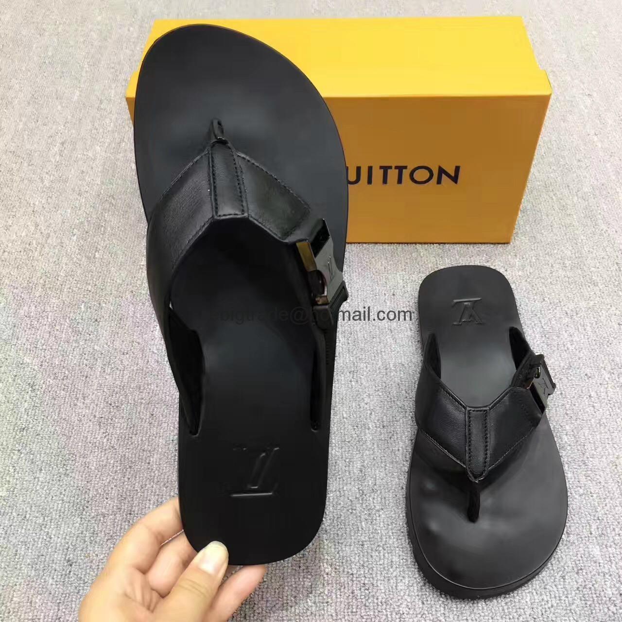 Cheap LOUIS VUITTON men's Sandals LV slippers LV sandals LV FLIP FLOPS ON SALE  15