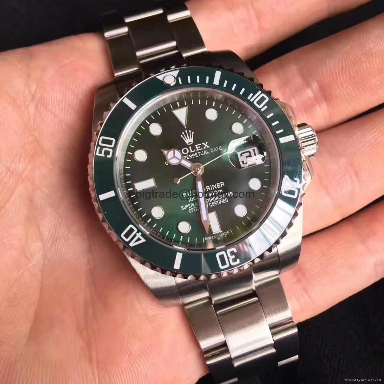 Rolex Submariner Green Dial Ceramic Bezel Steel Mens Watch 116610LN