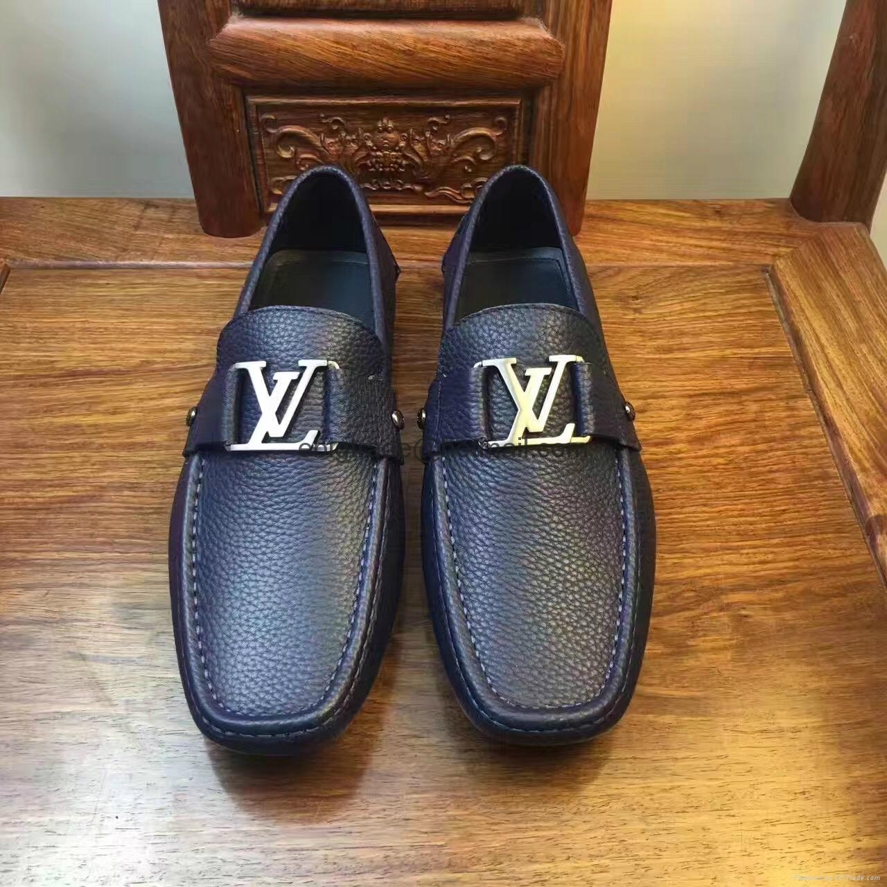 LV shoes leather