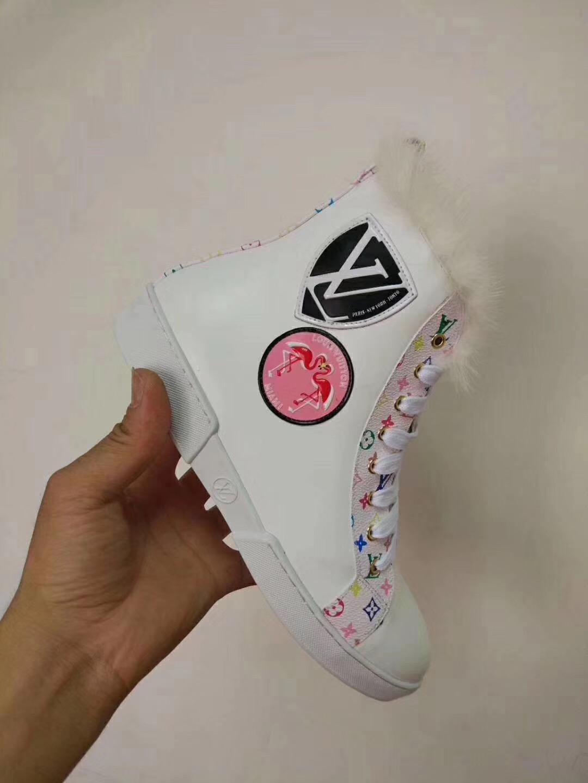 d18d6f396fd6 ... Cheap LOUIS VUITTON boots for women LV X SUPREME Shoes LV shoes for  women 12 ...