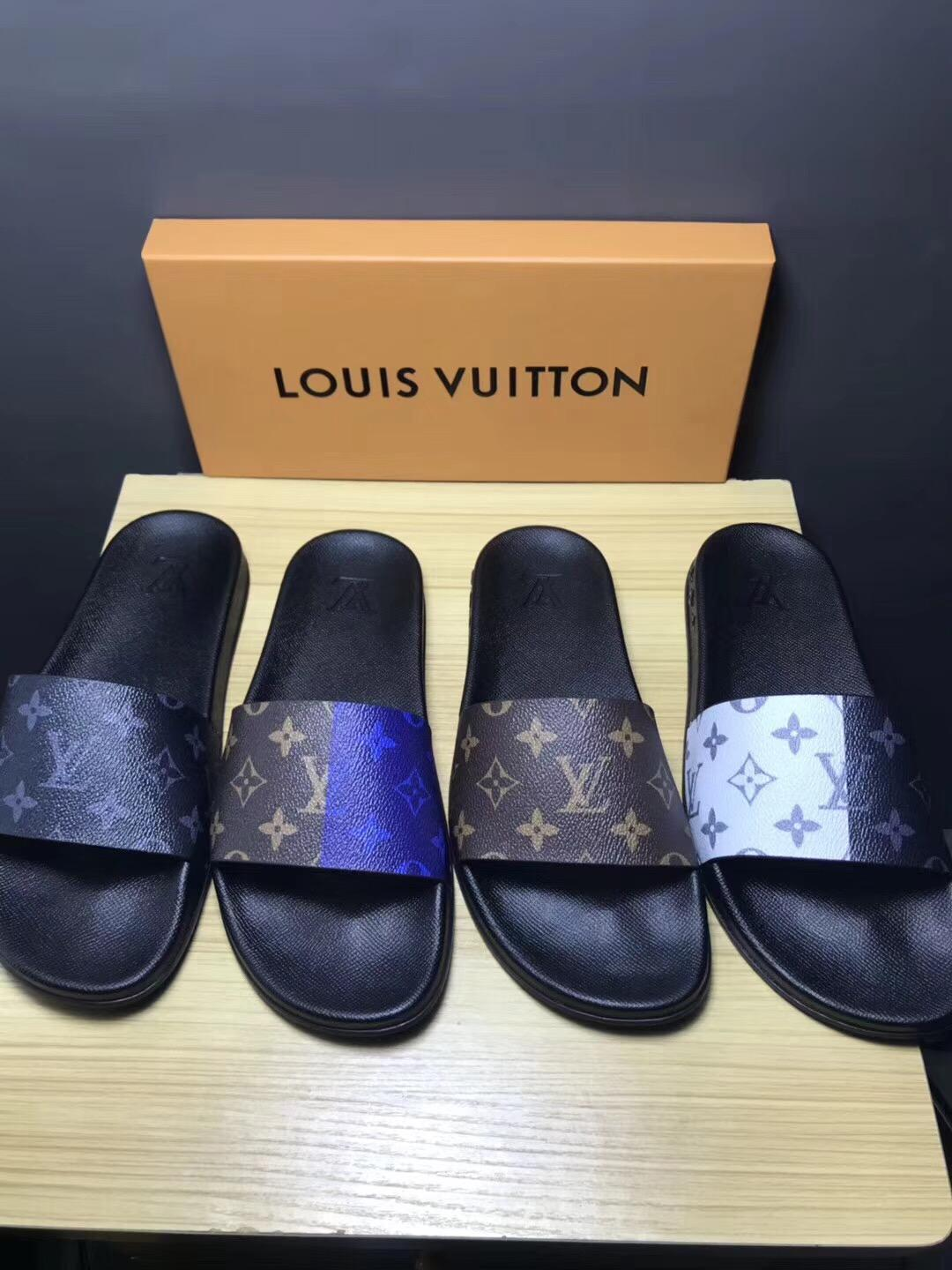 448f621b3f445a Cheap LOUIS VUITTON men s Sandals LV slippers LV sandals LV FLIP FLOPS ON  SALE ...