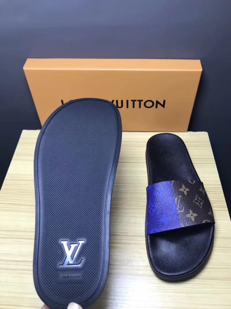 Cheap LOUIS VUITTON men's Sandals LV slippers LV sandals LV FLIP FLOPS ON SALE  19