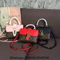 Louis vuitton locky BB Mongram brown canvas pink Calfskin Leather LV bag sale
