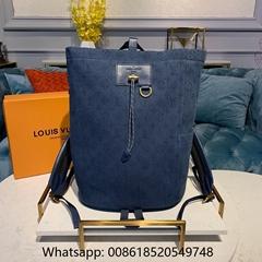 Chalk Backpack Monogram Denim Blue                shoulder bags