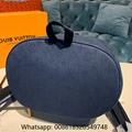 Louis Vuitton Chalk Backpack Monogram Denim Blue LV backpack LV shoulder bags