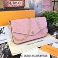 Louis Vuitton Empreinte Leather LV Chain Wallet LV Clutch Bags Empreinte LV bags