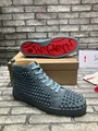 Christian Louboutin suede Louis Spikes Flat high-top sneakers