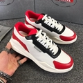 Replica Prada shoes mens Prada Patent leather and technical fabric sneakers