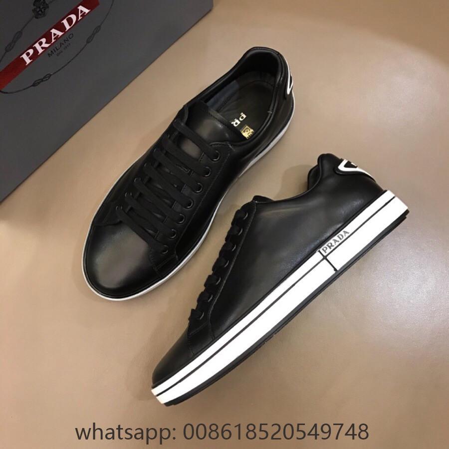 Cheap Prada Leather Sneakers discount Prada leather shoes Prada men shoes Price