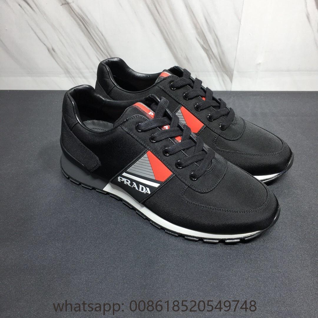 Cheap Prada Technical fabric sneakers Prada shoes on sale