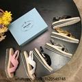 Cheap Prada Flat brushed leather sandals Prada Sandals on sale Prada sandals