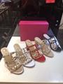 Valentino Garavani Rockstud Caged Slides Sandals Valentino Sandals on sale