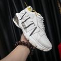 Valentino Garavani Bounce Sneaker in calfskin leather with VLTN Print
