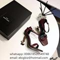 Saint Laurent Opyum Sandals Patent leather Discount Saint Laurent Sandals Price