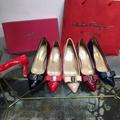 Cheap Ferragamo women shoes Ferragamo Double bow Pumps Ferragamo shoes women