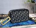 Womens Diorquake Dior Clutch Christian D Camera bag in Oblique jacquard Canvas