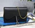 Saddle belt clutch in grained calfskin Dior Saddle Bag Vintage Cheap dior bags