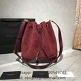 Saint Laurent Bags Monogram All Over Bucket In Suede Bags Saint Laurent handbags