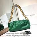 Bottega Veneta Pouch Chain-Strap Leather Clutch Bottega Veneta Hobo