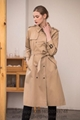 Women's Vintage Burberry Beige Check Trench Coat burberry Trench Coat for women