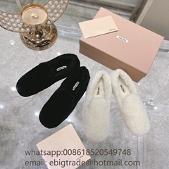 Cheap MIU MIU fur Sandal