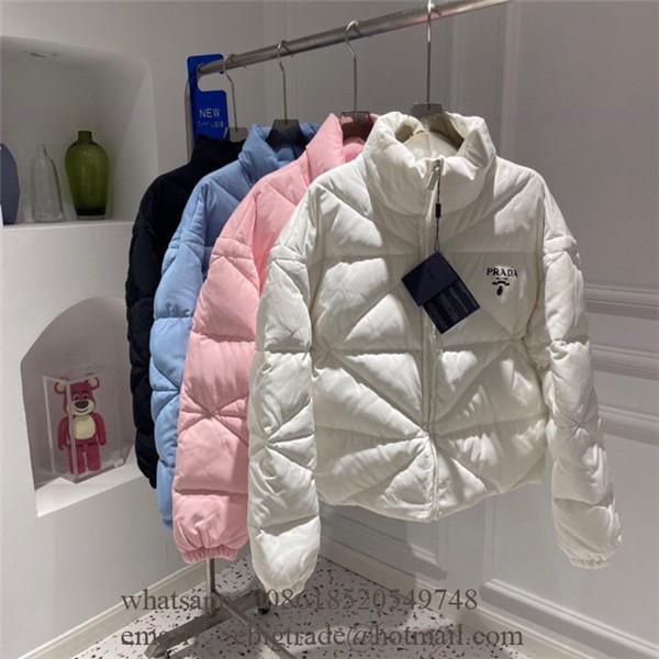 Cheap Prada Jackets mens Women's Prada Ivory Puffer Down Blazer Jackets