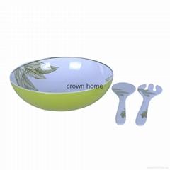 Melamine Purple Floral Theme 12 Inch Salad Serving Bowl Sets