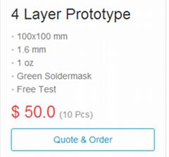 2 Layer Prototype PCB