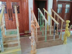 玉石樓梯扶手硅膠模具 玉石欄杆模具