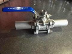 Q61F三片式加长焊球阀