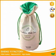 cotton drawstring bag with round bottom