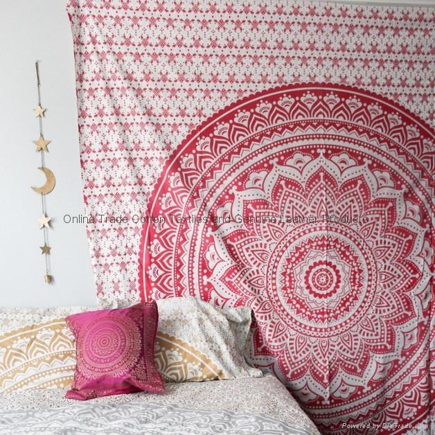 Wholesale Trade Bedsheet Mandala Wall Tapestry Golden Room decor 2
