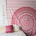 Wholesale Trade Bedsheet Mandala Wall Tapestry Golden Room decor 1