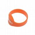 13.56Mhz HF RFID Silicon Wristband Tag 2