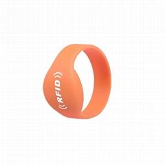 13.56Mhz HF RFID Silicon Wristband Tag