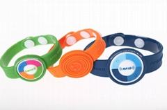 LF HF UHF chip Rfid waterproof bracelet Soft PVC RFID Wristband